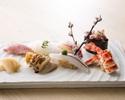 寿司ランチ「喜」 新鮮素材の本鮪、白身、光り物など握り八貫