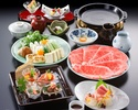 Sukiyaki Hana course (Top quality beef)