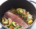 【冬得ディナー】彩り豊かな前菜・お魚お肉のWメイン!人気の野菜ワゴンなど全7品