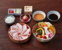 【ランチ】季節野菜しゃぶしゃぶ(米澤豚)セット