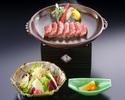 お昼の網焼ステーキ定食(上)