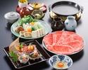 お昼の団コース すき焼(上)
