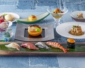 会席スタイルディナー「寿司会席」  前菜からデザートまで寿司カウンターで!