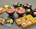 【12月】佐賀県産 黒毛和牛と三浦産有機野菜の特選すき焼きコース(2時間飲み放題なし)