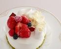 ★【オプション】苺のショートケーキ5号(直径15㎝)