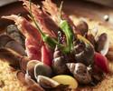 【ボリューム満点!】前菜3種盛り合わせ、旬の筍のフリット、岩中豚、鰆のパエリア、デザートなど全6品