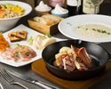 【DINNER】「ご堪能あれ!ラクレットチーズがとろっとろな満腹コース」3800円(税抜)
