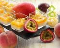 8月「 桃と多摩川梨の真夏のトロピカルスイーツブッフェ」