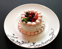 【Anniversary Dinner】Special Dinner Course with a glass of Sparkling wine and Hotel special anniversary cake