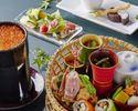 【2時間フリードリンク付】たくさんのお料理を少しずつ盛合せた「贅沢花籠御膳」ロール寿司&デザート付