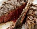 【数量限定】21日間熟成ポーターハウス650g! サーロインとテンダーロイン(フィレ)の2種類のお肉をお楽しみ頂ける贅沢ディナー※偶数人数様でのご予約限定※