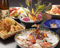 特盛お造りと寿司・旬菜を味わうオールコミコミプラン100分飲み放題付き7,000円