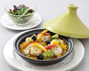 ランチ 魚介と野菜のパエリア