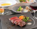 A5 grade Japanese black beef sirloin steak dinner course