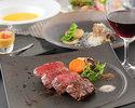 A5 grade Japanese black beef fillet steak dinner course