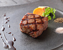 A5 grade Japanese black Beef fillet steak lunch course