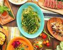 【飲み放題付き】アロハテーブル広尾店限定!カジュアルアロハコース!ハワイの定番料理アヒポキやガーリックシュリンプ、USハラミ肉など盛り込んだお得なコース♪全6品