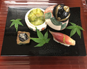 The Kaiseki course for vegetarians 16,500JPY