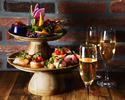 【オードブル充実コース】バーニャカウダやカプレーゼなど、前菜盛りだくさんで女子会に!全5品乾杯ドリンク付き
