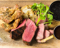 【シカゴピザ&お肉2種…3000円】アンガス牛&ハーブチキングリルのコース