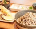 【ランチ】但馬の在来種 赤花蕎麦の天ぷら御膳