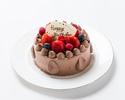 チョコ生デコレーションケーキ 6号