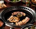 【平日限定】お肉3種(180g)をテジクッパと共にお愉しみいただける2時間飲み放題付コース!