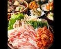 数量限定販売!【イベリコ豚のスタミナ豚キムチ鍋コース】(全7品)2時間飲み放題付