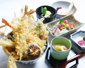 【Weekday only】SPECIAL tempura donburi set [BIG prawn ,asparagus and eight kind of vegetable rice bowl