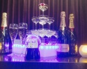 [シャンパンタワー付きコース]お食事6品9種+2時間+アルコール&ソフトドリンク飲み放題