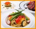 【ランチ】前菜やパスタ2種類、メインディッシュ、ドルチェなど全6品のコース