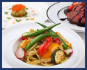 【ディナー】前菜やパスタ2種類、メインディッシュ、ドルチェなど全6品のコース