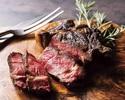 ロバ肉・黒毛和牛ランプ肉盛り合わせコース