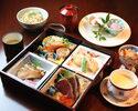 【はりまや御膳】お昼限定の特別献立。10種の旬菜盛合せ等、女性のお客様に人気です!
