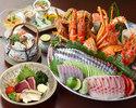 ☆天然活〆鮮魚お造りなど 黒潮皿鉢(さわち)コース