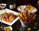 ワイン3杯とシグネチャーカクテルで楽しむペアリングディナー<シャンパーニュプラン>