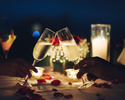 ★☆お食事のご予約と一緒にご注文ください☆★ 【オプションメニュー】Anniversary Set B デコレーションケーキ(4号)+大きな花束