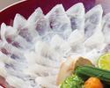 【クエちり鍋コース】天然活〆の真クエを使用。綺麗な「クエのちり造り」に鍋の王者「クエ鍋」を堪能!