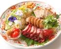銘々盛りコース料理8品 3時間飲み放題付フカヒレ入り7,000円プラン(税抜)平日限定