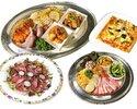 Bコース お料理4種&飲み放題(2時間制)