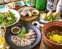 桜鯛とたけのこ土鍋ご飯コース 2500円(税込)
