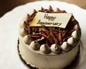 (10/1~)★Please order with other menu.★【 Anniversary B ( Chocolate cake 12cm)】