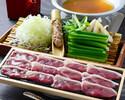 蕎麦つゆだしの鴨葱鍋セット◎90分飲み放題付き4,400円(税抜)