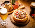 2名様からOK!選べる!シカゴピザとチョップドサラダのブッチャーコース3,800yen【乾杯ドリンク付き♪】