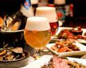 【乾杯1ドリンク付】オマール海老とムール貝のブイヤベースと季節野菜のサラダ、自家製シャルキトリー前菜 -季節のベルギービールとマリアージュフードのコース-