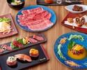 サーフ&ターフと門崎熟成肉を使用したしゃぶ焼き