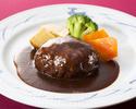 シェフのおすすめチョイスコース・ハンバーグor魚料理or蟹クリームコロッケ&海老フライ