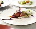【ランチ】スパークリングワイン含む選べる2ドリンク付き!生ウニのフランにオマール海老・お肉・魚のWメイン全6皿