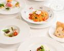 【スパークリング付5皿】シェフおすすめコース!選べるパスタとメイン料理!笑顔広がる優雅なひととき