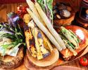 【ケール食べ放題が嬉しい◎】採れたて無農薬野菜のまるごとバーニャカウダコース
